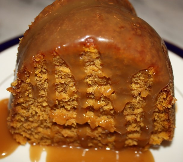 Pumpkin Bundt Cake with Caramel Sauce