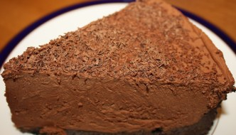 Kahlua Mousse Cake is an ideal dessert to serve when you want to WOW your friends. Elegant, delicious and a recipe that is made ahead of time. YUM!!