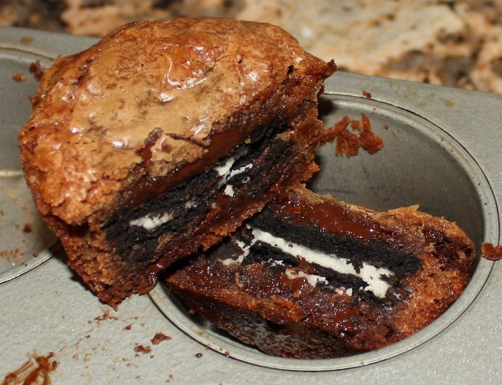 Desserts Required - Gooey Oreo Brownie Cups