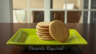 Desserts Required - Cinnamon Shortbread Cookies
