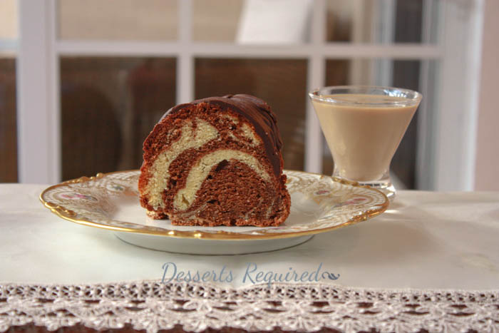 Desserts Required - Irish Cream Chocolate Swirl Bundt Cake