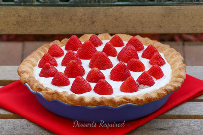 Desserts Required - red white and blue pie