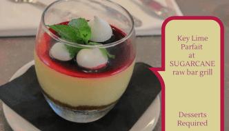 Desserts Required - SUGARCANE raw bar grill