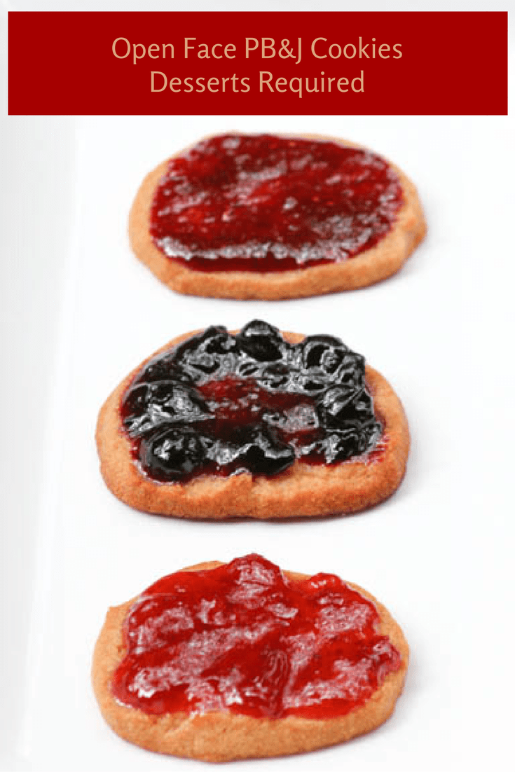 Desserts Required - Open Face PB&J Cookies