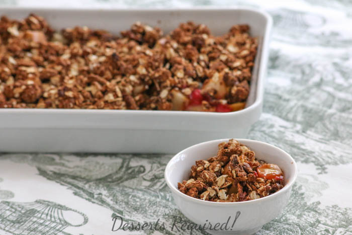 Desserts Required - gingerbread pear crumble