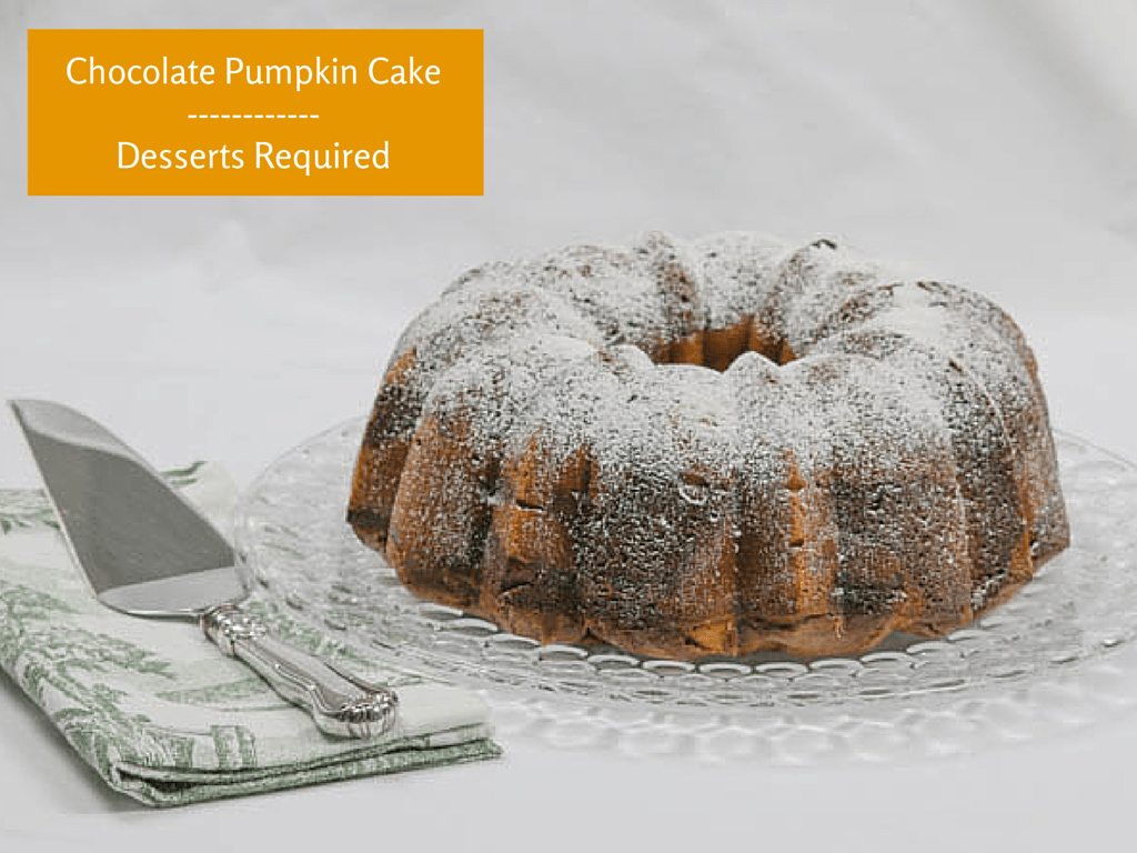 Desserts Required - chocolate pumpkin cake