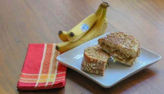 Grilled Peanut Butter Apple Banana Sandwich