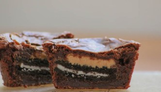 Desserts Required - Gooey Oreo Peanut Butter Brownie Cups