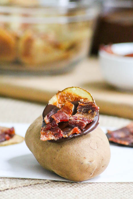What do you get when you combine chocolate, bacon and homemade potato chips? Chocolate Bacon Potato Chips - a recipe that is a heaven on earth treat!