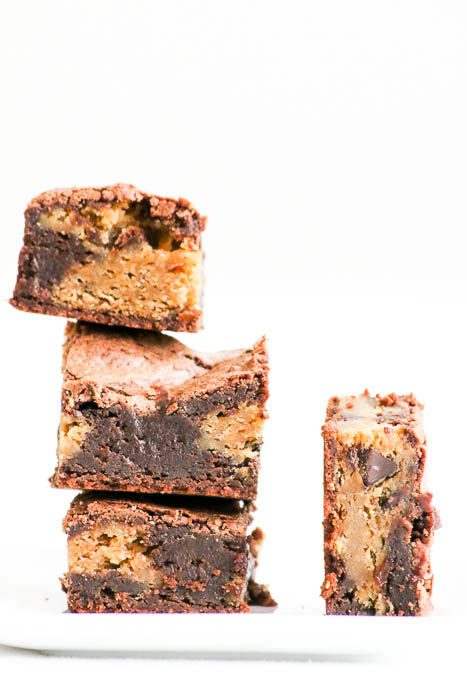 Chocolate Chip Cookie Dough Brownies take yum to a whole new level. They combine two classic desserts into one tasty treat. Definitely a keeper recipe!