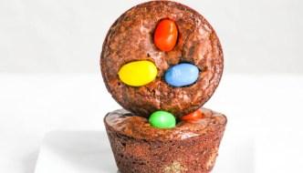 Gooey Peanut M&M Brownie Cups