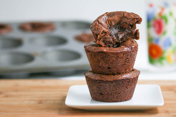 Gooey Chocolate Peanut Butter Marshmallow Brownie Cups - the name says it all! The only thing left to do is to make a batch and bake.