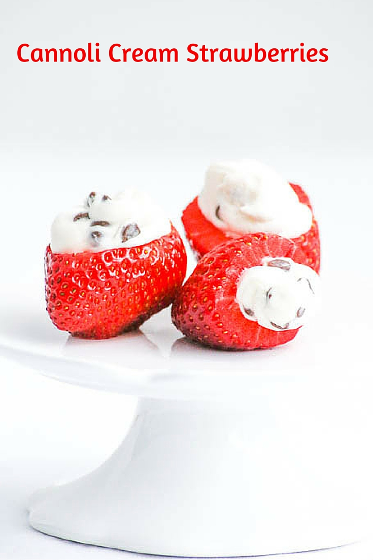 Cannoli Cream Strawberries are a wonderful way to celebrate Valentine's Day and also to showcase the delicious berries.