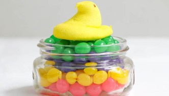 Jelly Bean Peep Jars are so easy to assemble and children of all ages can participate. Perfect for Easter!