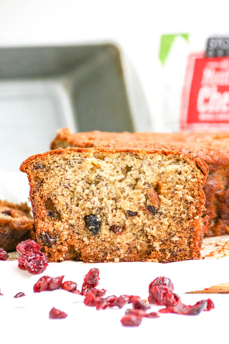 You'll go ape for Banana Berry Bread. It incorporates dried berries that have been rehydrated in orange juice into a delicious banana packed batter.