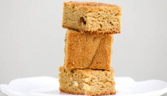 Peanut Butter Blondies will satisfy your creamy or crunchy peanut butter cravings. These delicious treats are a cross between a cookie and a bar.