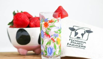 Celebrate #JuneDairyMonth with Strawberry Milkshake. It combines fresh berries with @FloridaMilk. Perfect for #SundaySupper!