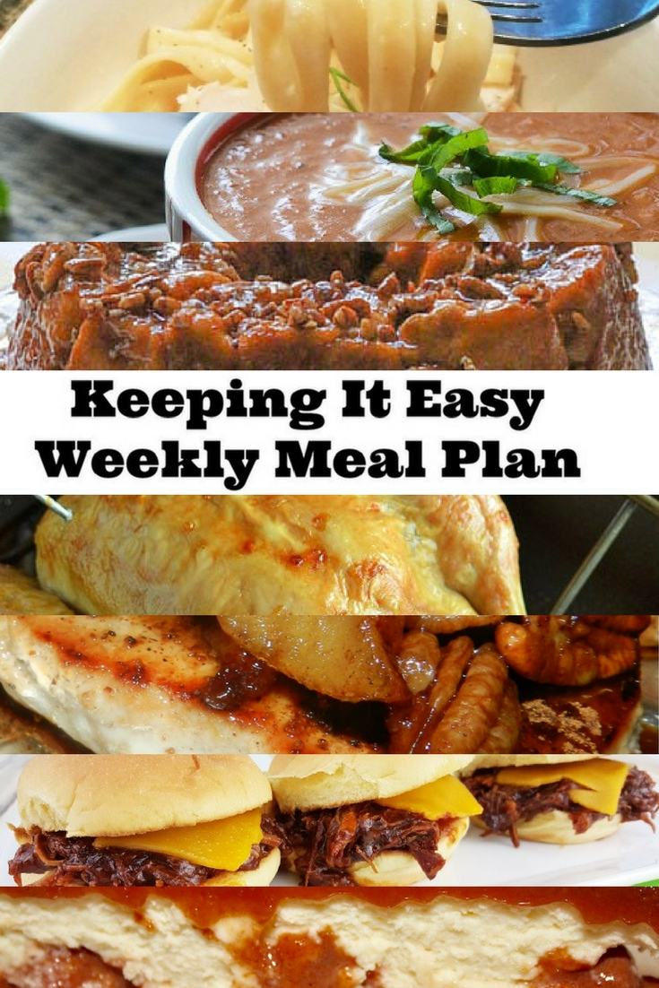 Weekly Meal Plan #3 will do a great job keeping it easy. Get delicious ideas for your meals, from breakfast to dinner to dessert.