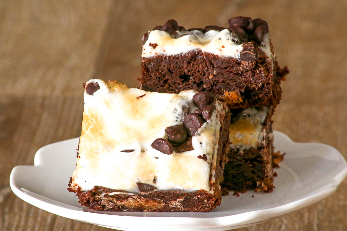 Marshmallow Peanut Butter Cup Brownies Desserts Required