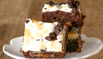 Marshmallow Peanut Butter Cup Brownies
