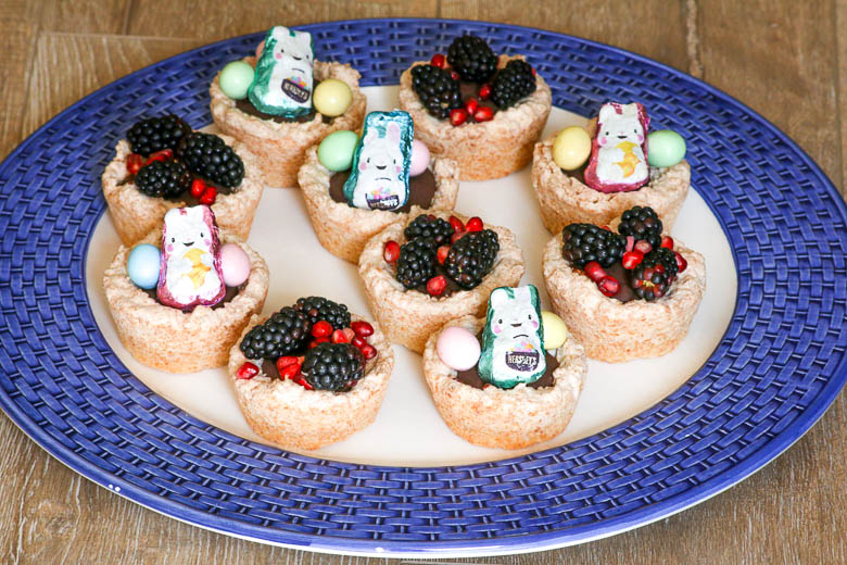 Passover and Easter Coconut Chocolate Nests have a macaroon cookie base with a chocolate ganache filling. Decorate for your holiday!