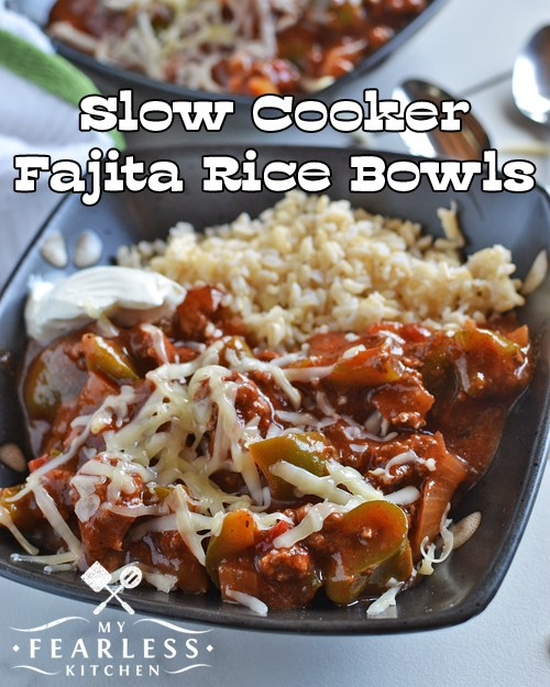 Easy Weekly Meal Plan #39 from My Fearless Kitchen. This week's meal plan includes Banana Coconut Chocolate Colada Bread, Chicken Caprese Pasta, Slow Cooker Fajita Rice Bowls, Chicken Tetrazzini, Cheesy Beef Enchiladas, Greek-Style Sausage & Peppers Sandwich, and Apple Cheesecake with Cinnamon Shortbread Cookie Crust.