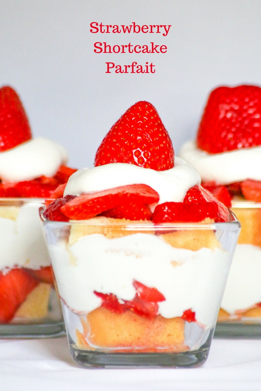 Strawberry Pound Cake Parfait