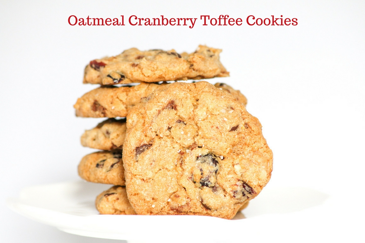 Oatmeal Cranberry Toffee Cookies are highly addictive. Perfect for dessert or snack time. I'd even eat them for breakfast. You have been warned!