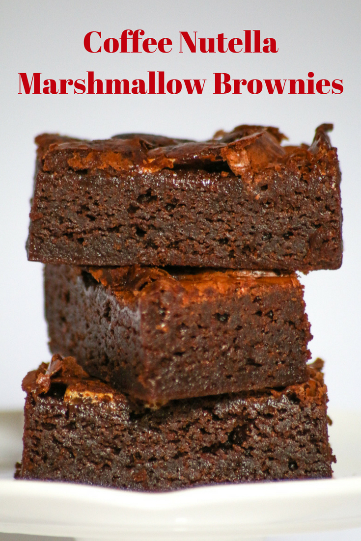 Coffee Nutella Marshmallow Brownies are highly addicting, easy to make and decadent to eat all summer long. Perfect for summer baking.