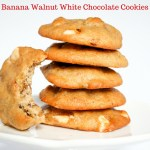 Banana Walnut White Chocolate Cookies
