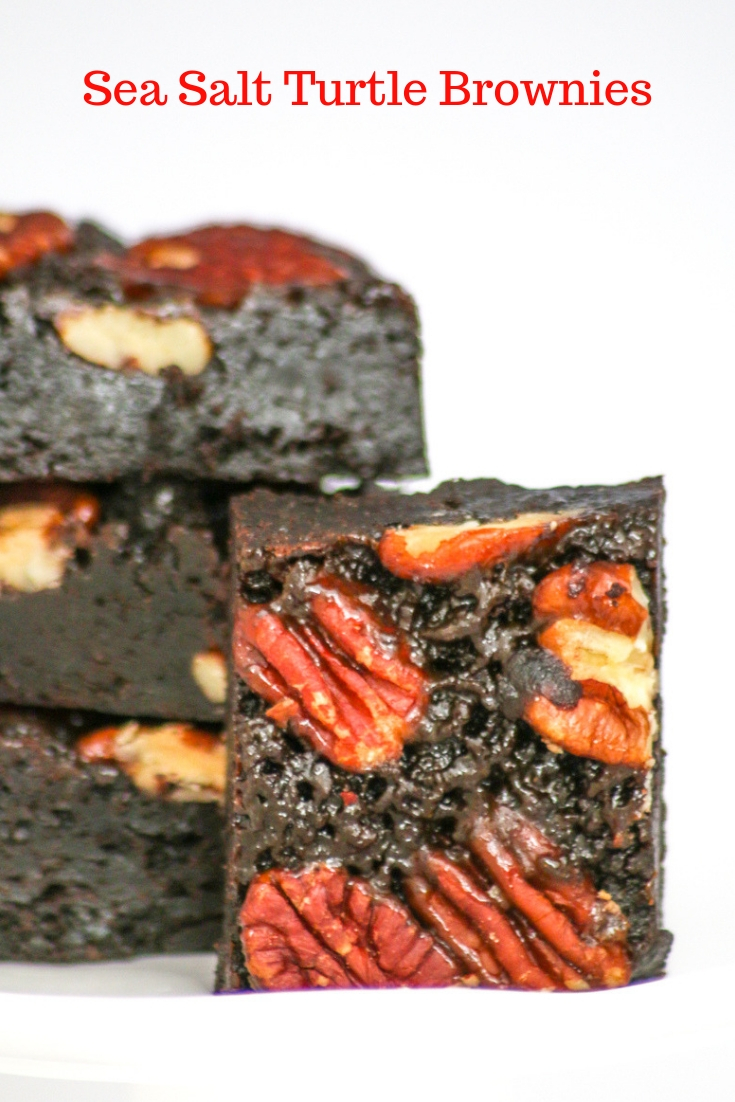 Sea Salt Turtle Brownies combine the decadence of chocolate, caramel and pecans that result in an addicting and heavenly treat!