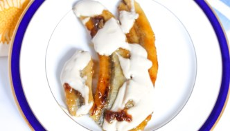 Caramelized Bananas with Sour Cream and Brown Sugar
