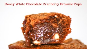 Gooey White Chocolate Cranberry Brownie Cups