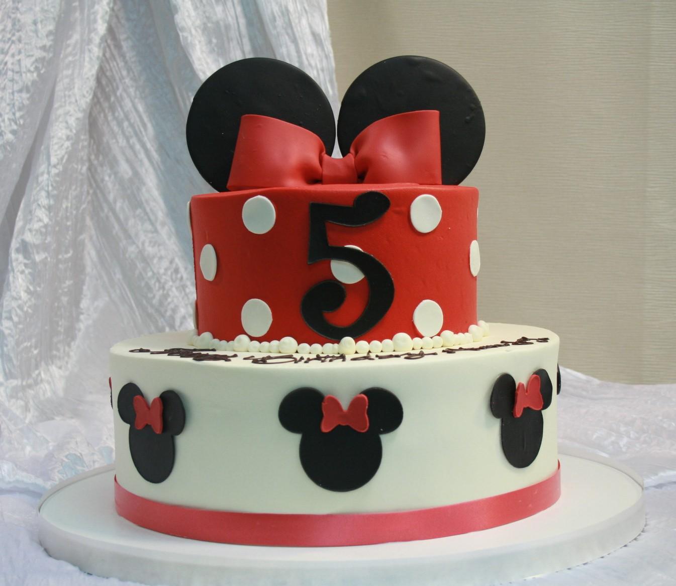 2 Tier Minnie Mouse Ears Cake