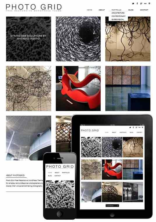 Gratis portfolio thema, geschikt voor smartphone, tablet en pc