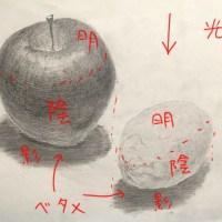 添削121:りんごとレモンのデッサン