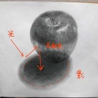投稿300:りんごのデッサン