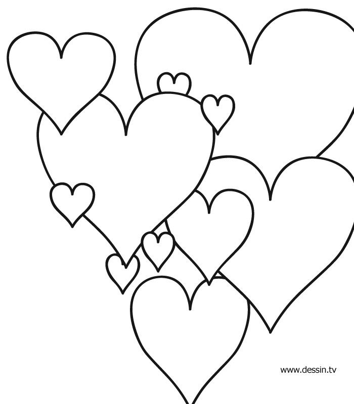 coloriage de de coeur