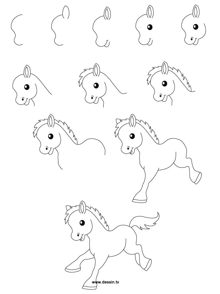 Comment dessiner un poney