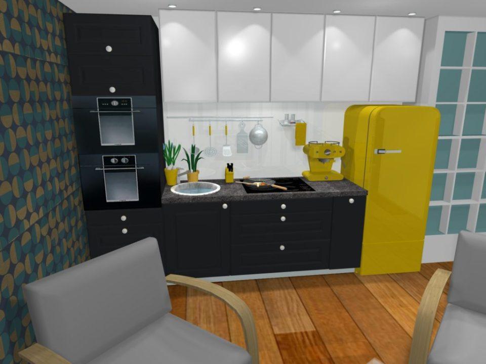 Cuisine pour un studio de 22m²