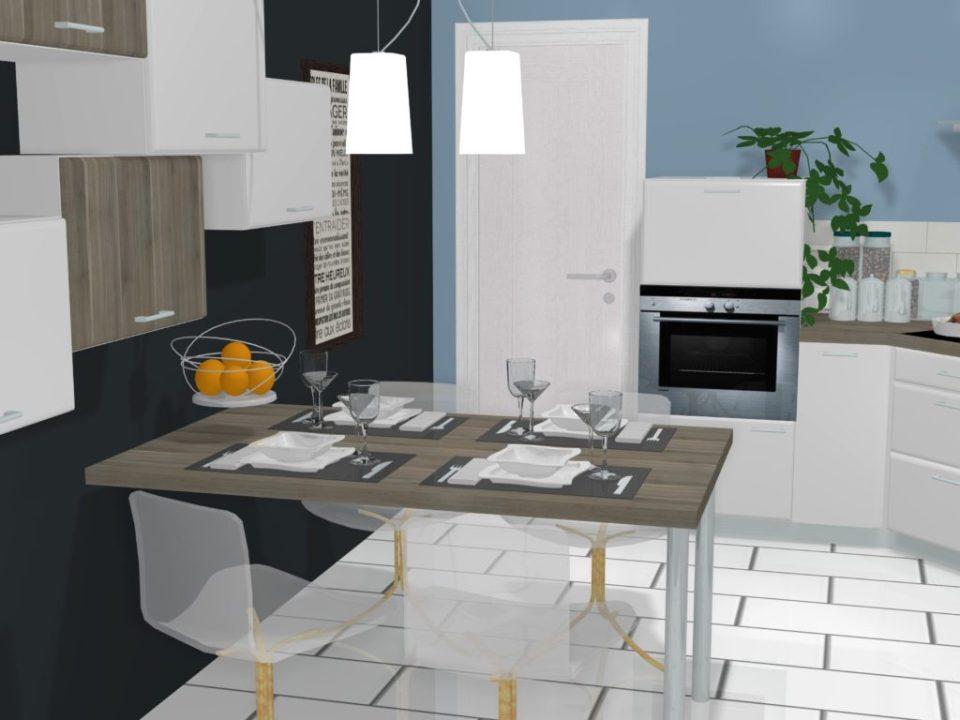 cuisine style scandinave projet 3d