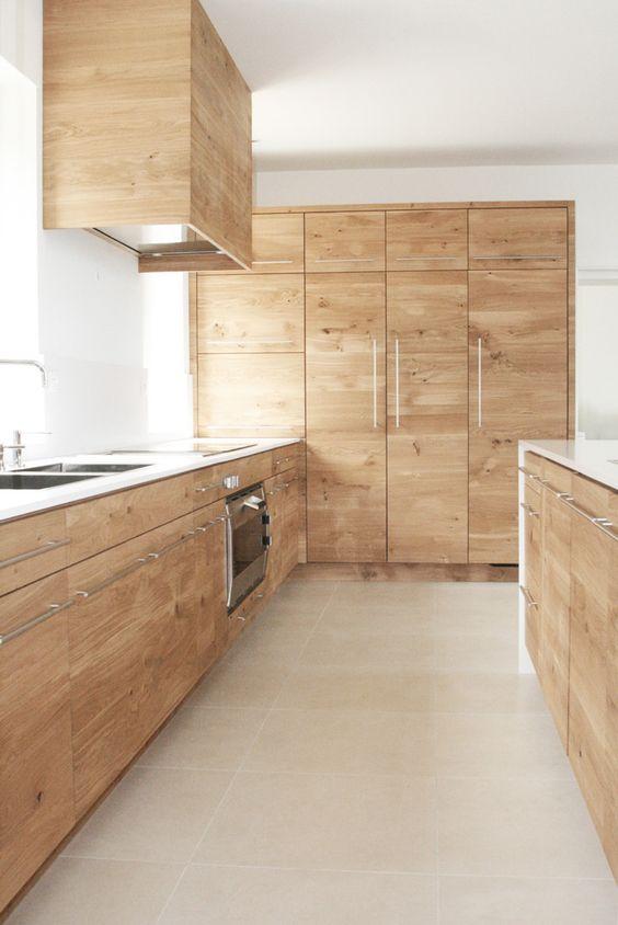 cuisine moderne en bois menuisier