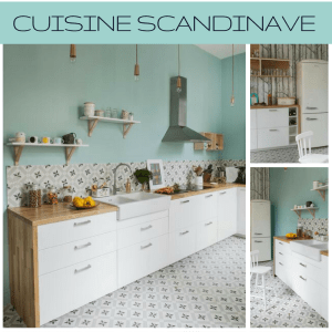 Cuisine style scandinave nuancier couleurs et matériaux