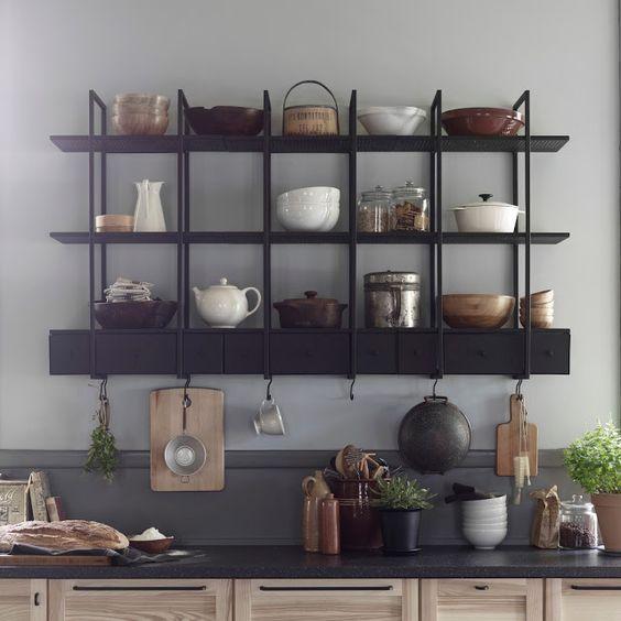 Rendez votre cuisine unique avec les étagères style industriel