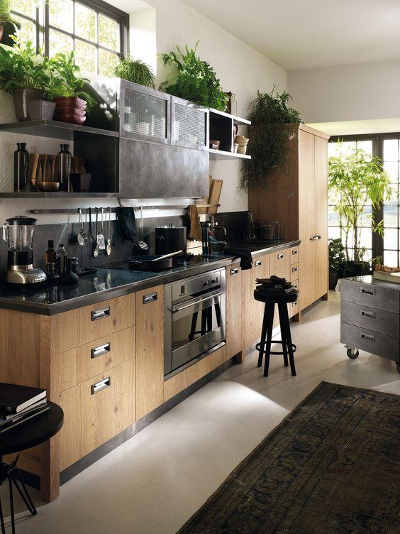 Rendez votre cuisine unique avec les étagères contemporain inox élément ouvert et fermé