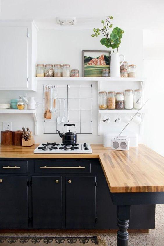 cuisine inspiration scandinave noire et bois
