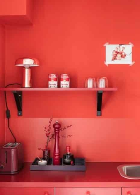 déco total look rouge vermillon