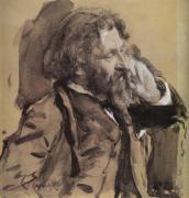 portrait d' Ilya Repin par Valentin Serov