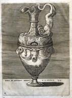 Aiguière - Gravure d'Enea Vico graveur italien (1523-1567)