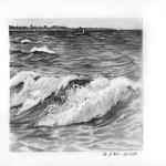 vagues au graphite